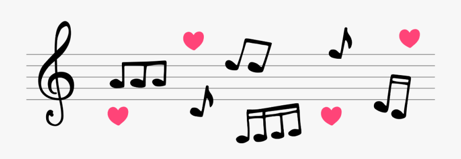 #mq #notes #music #note #heart - Musical Notes Png Love, Transparent Clipart