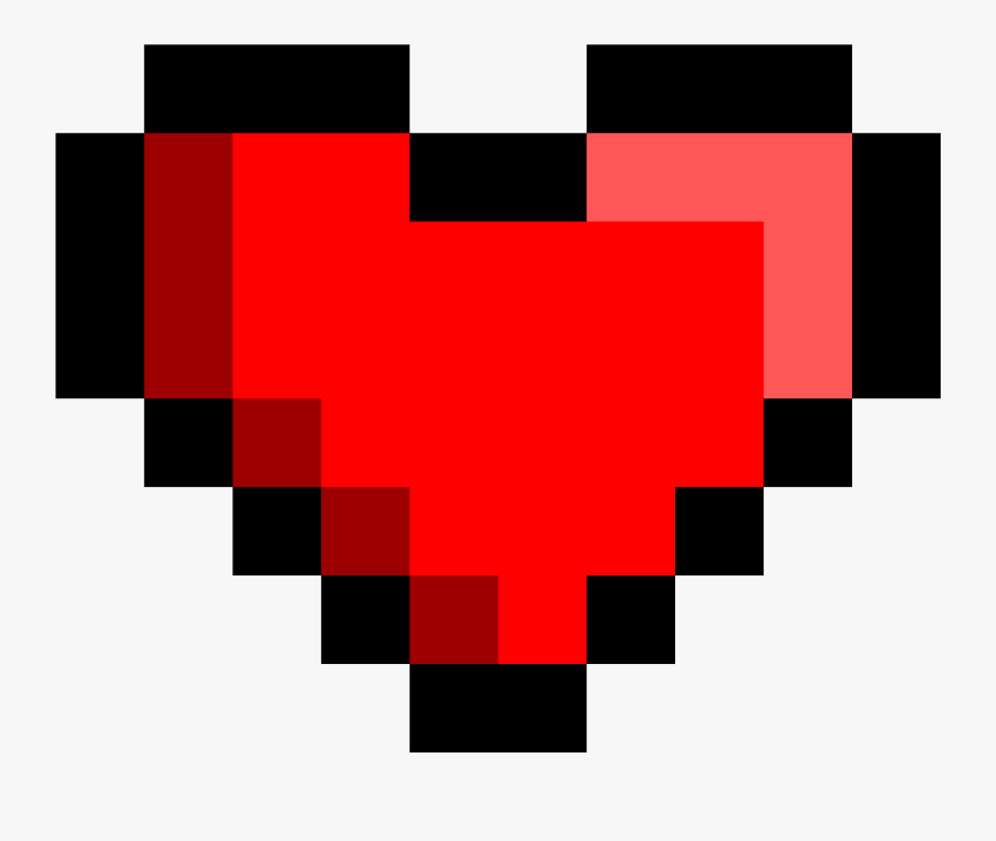 Transparent Music Notes Heart Clipart - 8 Bit Heart Icon, Transparent Clipart