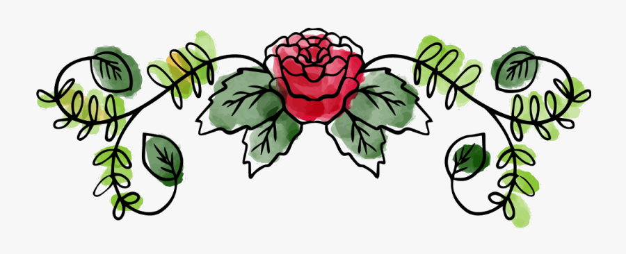 #rose #flowers #leaves #vines #vinesandleaves #garland - Watercolor Painting, Transparent Clipart