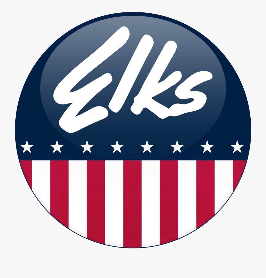Elks Lodge Logo - Elks Usa Black And White Logo, Transparent Clipart