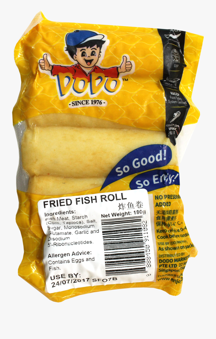 Fried Fish Roll - Dodo Fried Fish Roll, Transparent Clipart