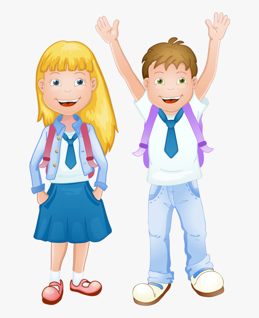 Transparent Back To School Clipart - Girl In School Uniform Drawing, Transparent Clipart