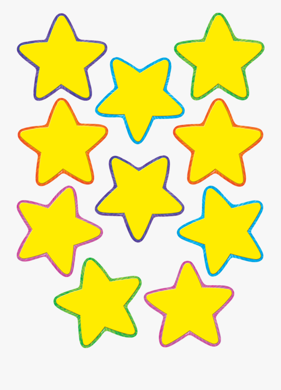 Yellow Stars Accents - Yellow Star Template Printable ...