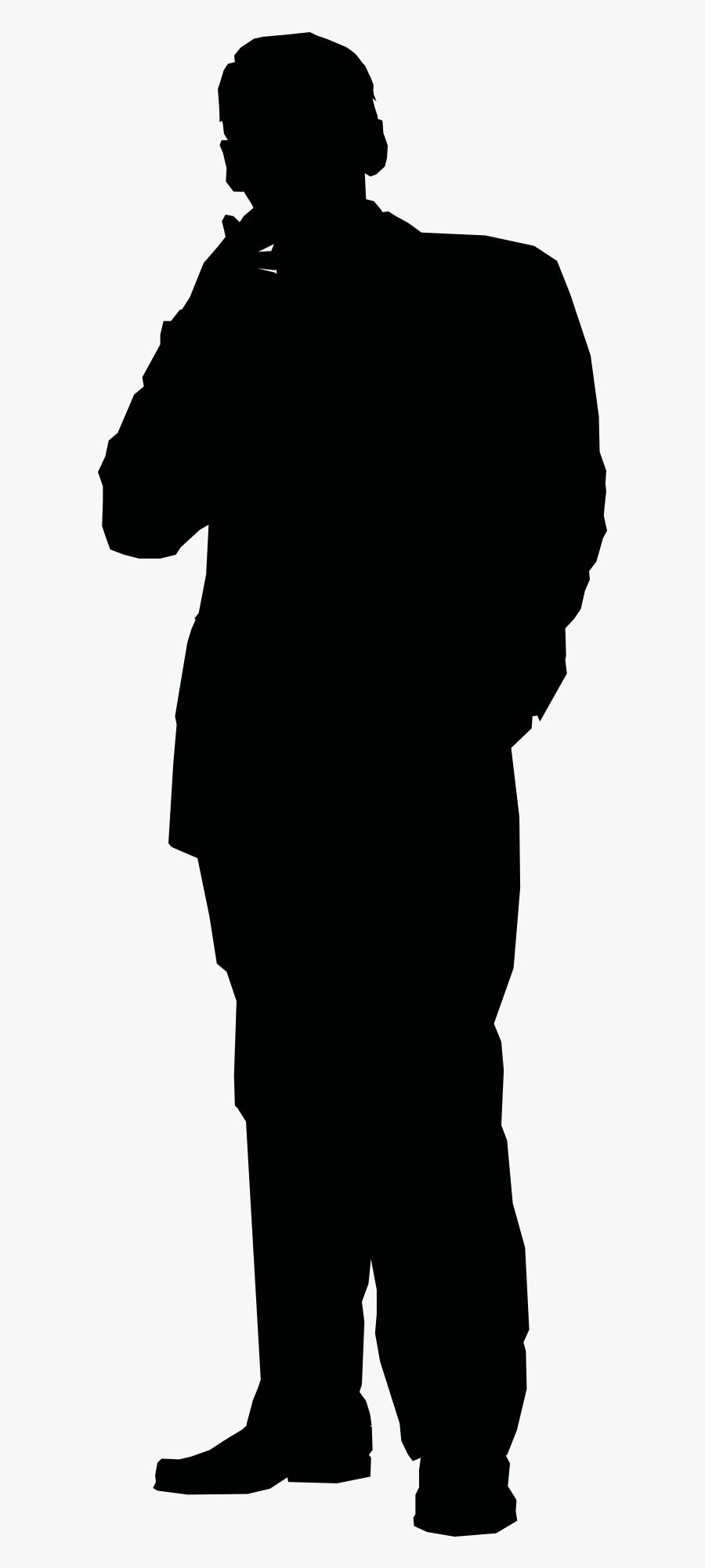 Silhouette Stick Figure Clip Art - Thinking Person, Transparent Clipart
