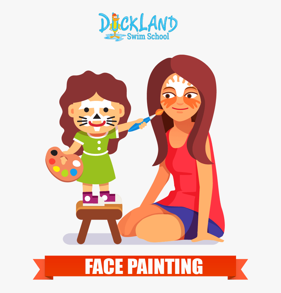Face Painting Drawing, Transparent Clipart
