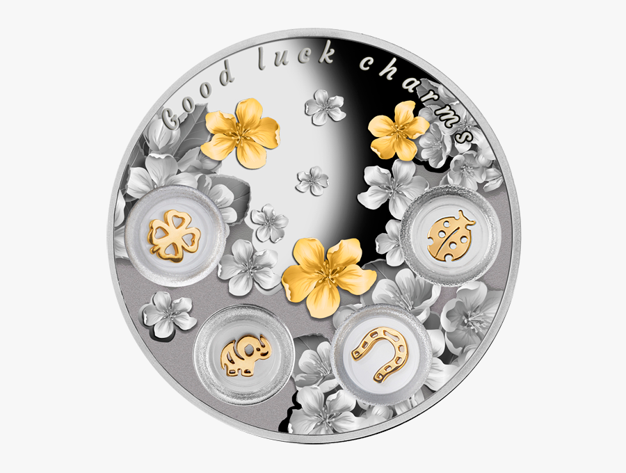 Niue 2015 5$ Good Luck Charms - Good Luck Charms Coin, Transparent Clipart