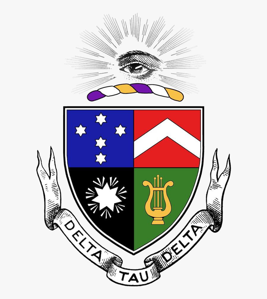 Insignia Epsilon Mu Chapter Delta Tau Delta Ball State - Delta Tau Delta Crest, Transparent Clipart