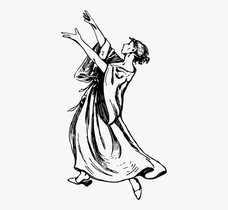 Art,monochrome Photography,artwork - Performing Arts Drawing, Transparent Clipart