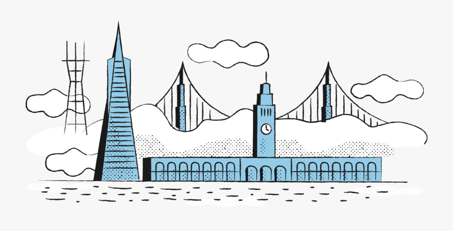 South Bend Design Is Based In San Francisco, California - Illustration, Transparent Clipart