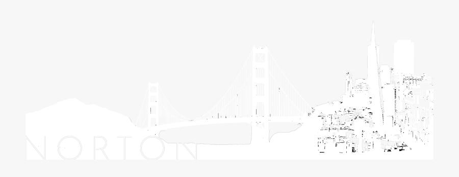 Norton Fine Art Handler - Self-anchored Suspension Bridge, Transparent Clipart