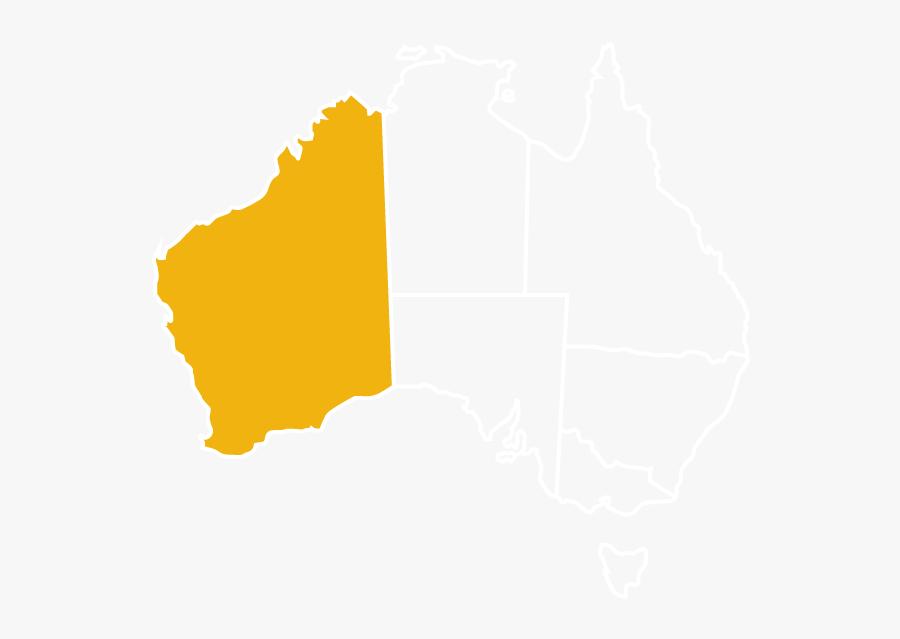 Australia Map White Outline Wa - Australia Map Solid, Transparent Clipart