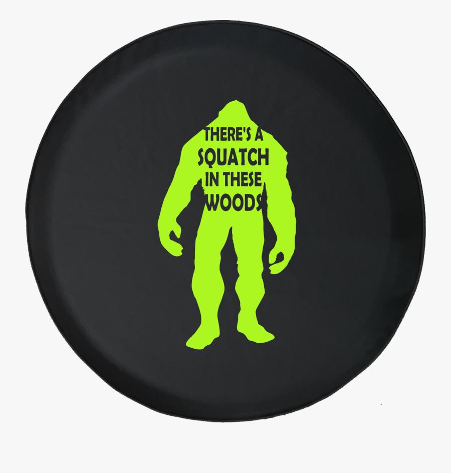 Transparent Bigfoot Silhouette Png - Jeep Sasquatch Tire Cover, Transparent Clipart