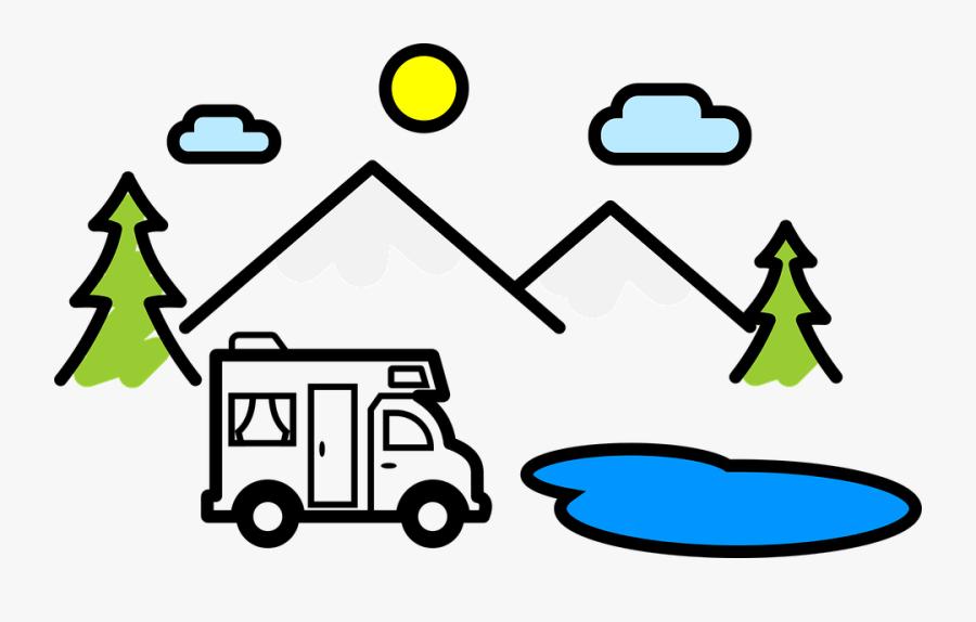 Vacations, Caravan, Wohnmob, Mobile Home, Blue, Summer - Manfaat Energi Matahari Bagi Manusia, Transparent Clipart