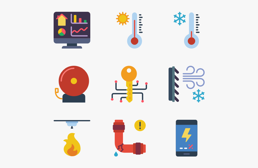 Smart House - Smart House Icons Vector Png, Transparent Clipart