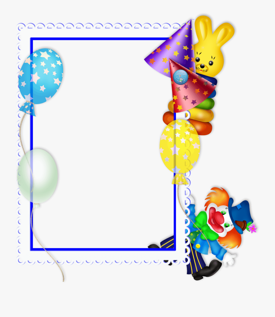 Princess Clipart Borders And Frames - Happy Birthday Frame Png, Transparent Clipart