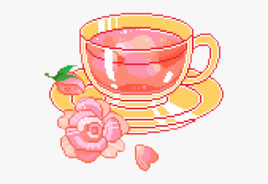 Tea Cup Clipart Transparent Tumblr - Tea Pixel, Transparent Clipart
