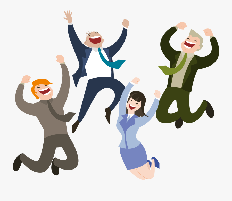 Happiness Clipart Happy - Happy People Cartoon Png, Transparent Clipart