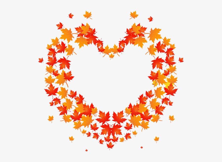 Autumn Leaves Heart Transparent Png Clip Art Image - Autumn Leaves Heart Png, Transparent Clipart
