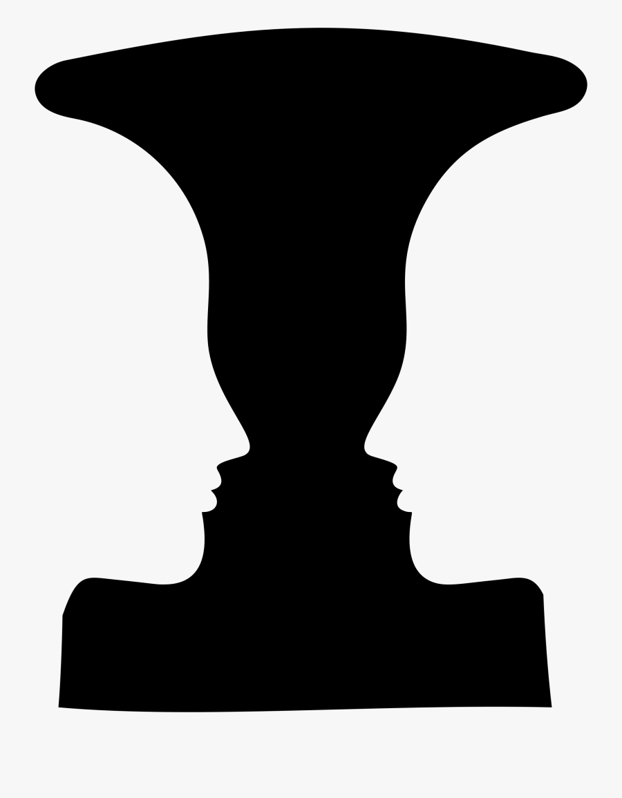 Positive Space In Art - Drawing On The Right Side Of The Brain Vase Face, Transparent Clipart