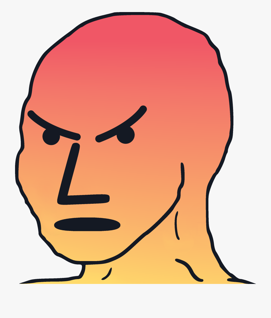 Angry Npc Face, Transparent Clipart