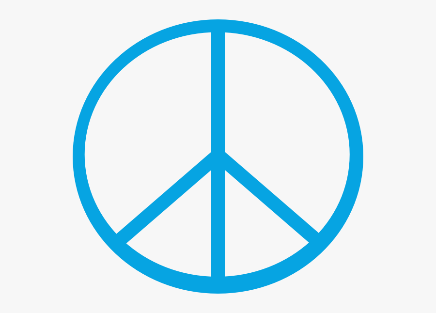 Peace Sign Line Drawing, Transparent Clipart