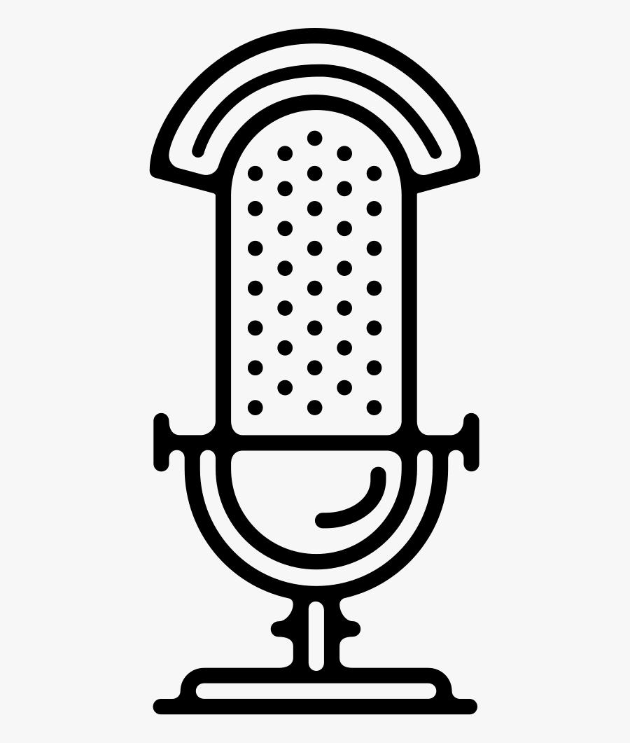Old Radio Microphone - White Radio Mic Transparent, Transparent Clipart