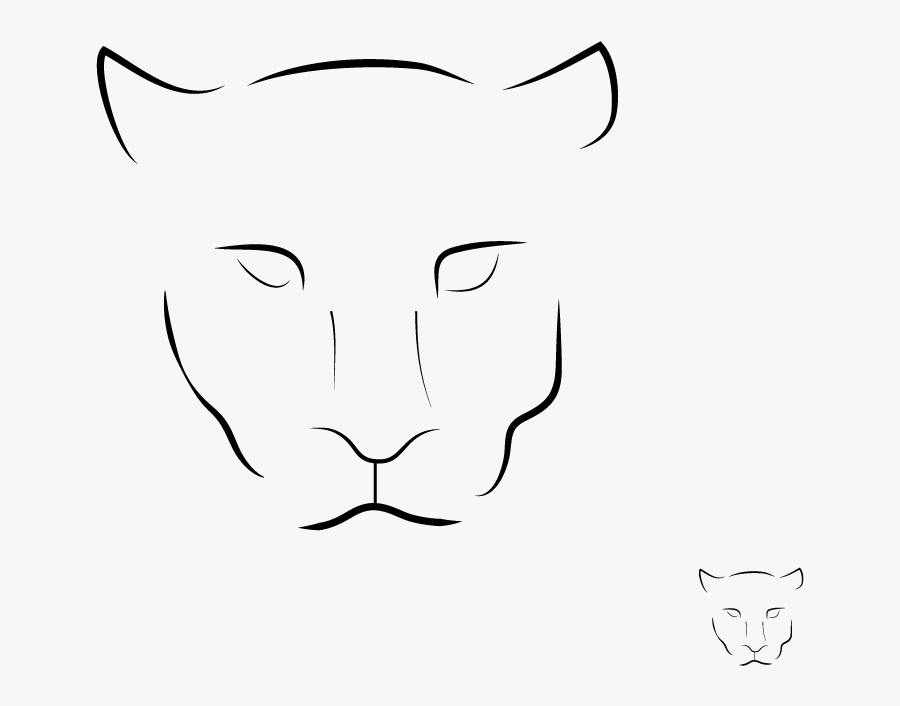 Drawing Logo Panther Sketch Free Transparent Clipart Clipartkey