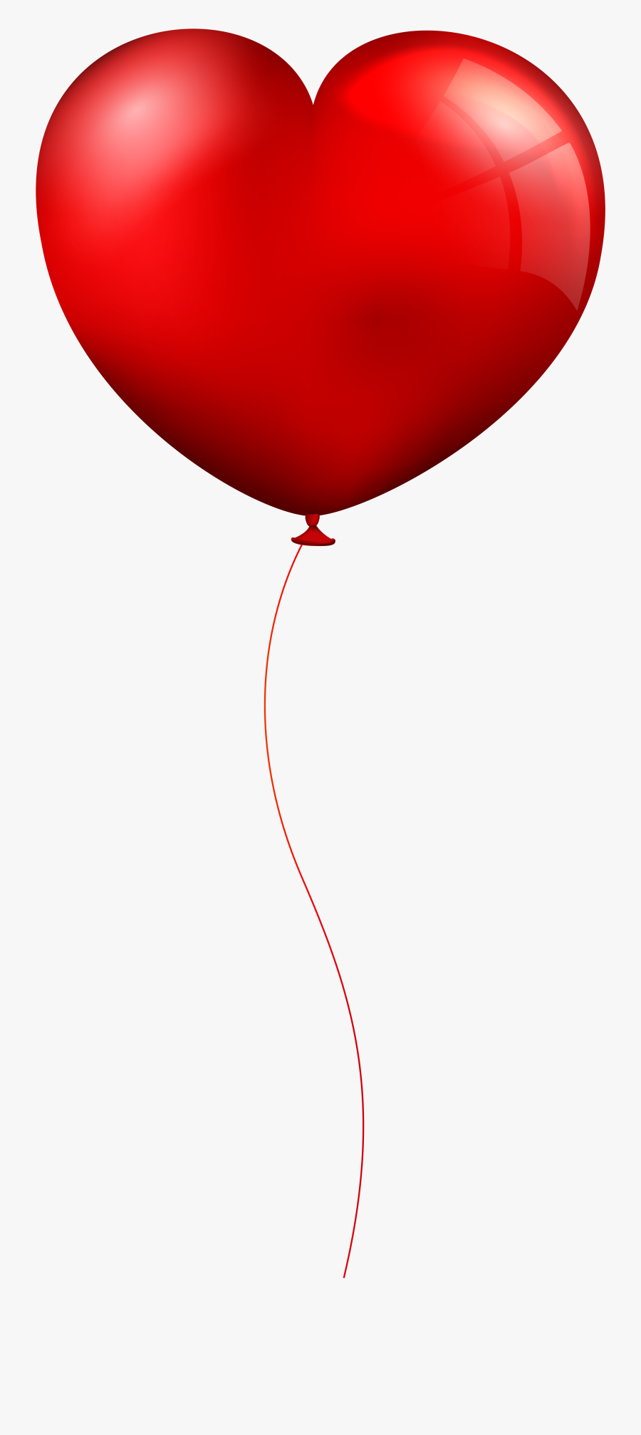 Red Heart Balloon Clip - Red Balloon Transparent Background, Transparent Clipart