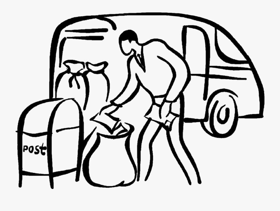 Vector Illustration Of Postal Service Worker Delivers, Transparent Clipart