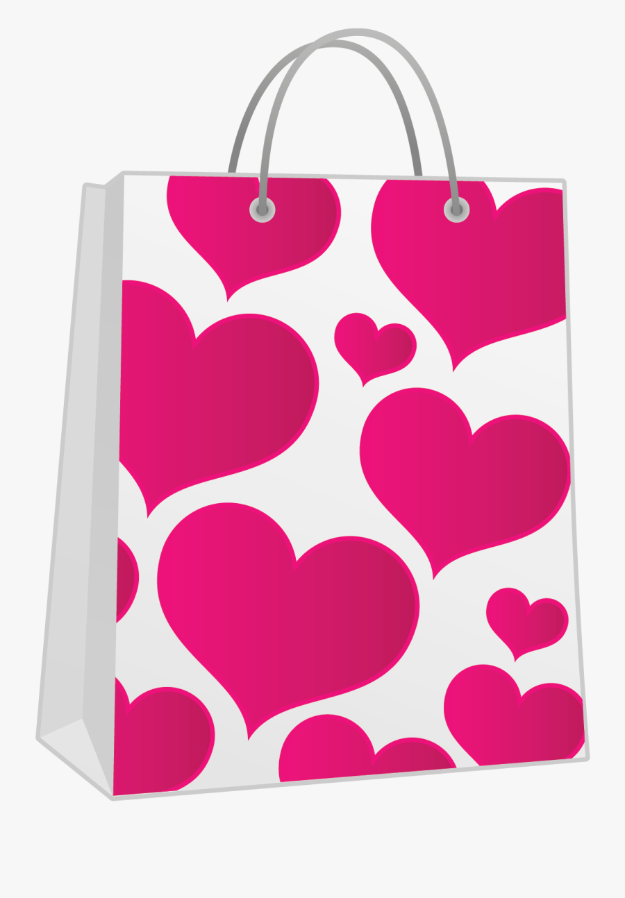 Gift Bags Png - Shopping Bag Clipart Pink, Transparent Clipart