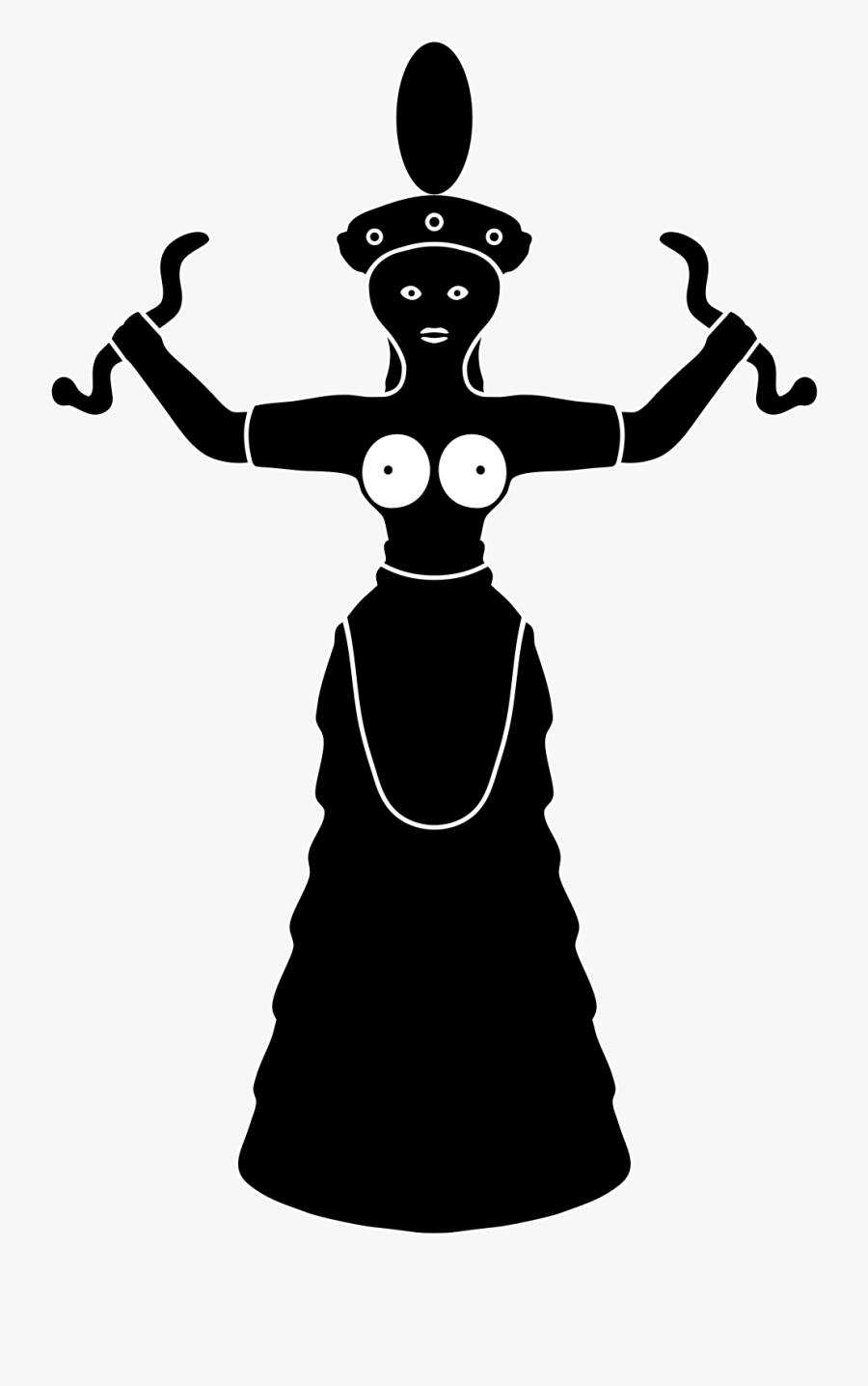 Minoan Goddess Png, Transparent Clipart