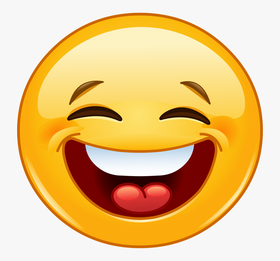 Confused Face Gif Png - Smiley Face Laugh Emoji, Transparent Clipart