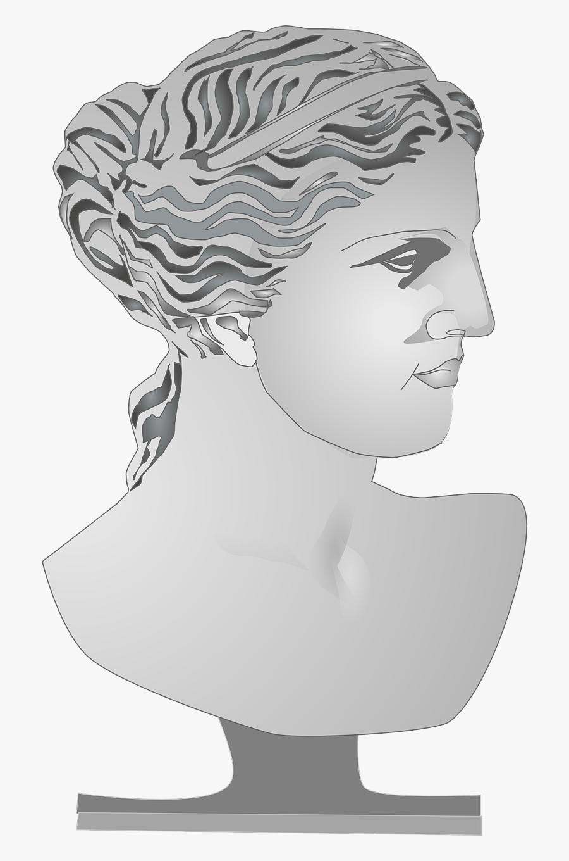 Greek Goddess Bust - Greek Goddess Statue Clipart, Transparent Clipart