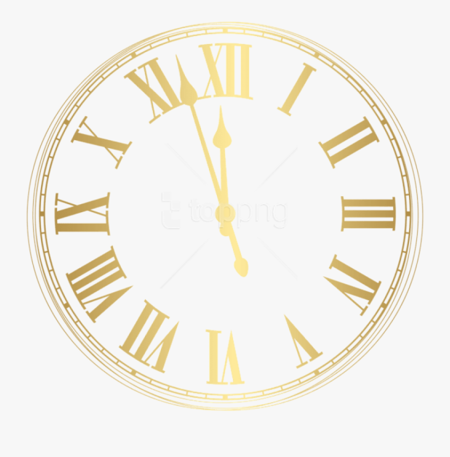 Free Png New Year Clock Png Images Transparent - New Years Eve Clock Png, Transparent Clipart