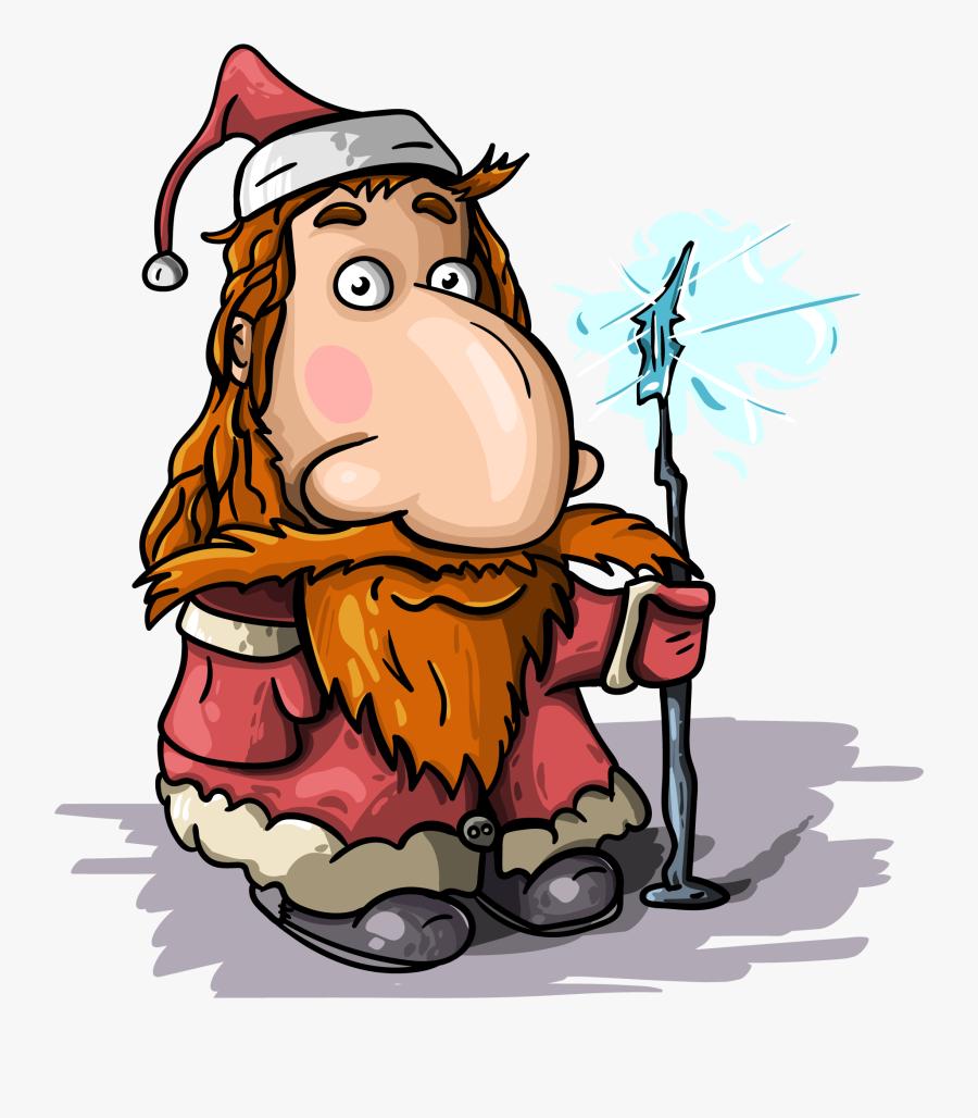 "Santa Claus, Magic, New Year""s Eve, Christmas - Cartoon Charavter Eith Big N Ose, Transparent Clipart"