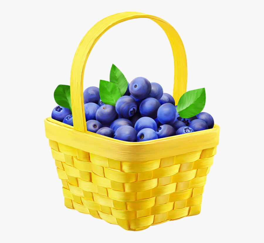 Blueberries In Basket Clipart, Transparent Clipart