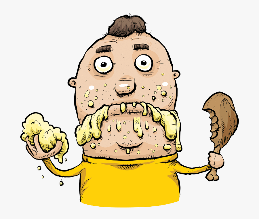 Bob The Forex Trader - Cartoon Eating Food, Transparent Clipart