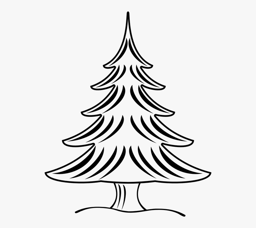 Transparent Christmas Tree Black And White Png - Gambar Sketsa Pohon Natal, Transparent Clipart