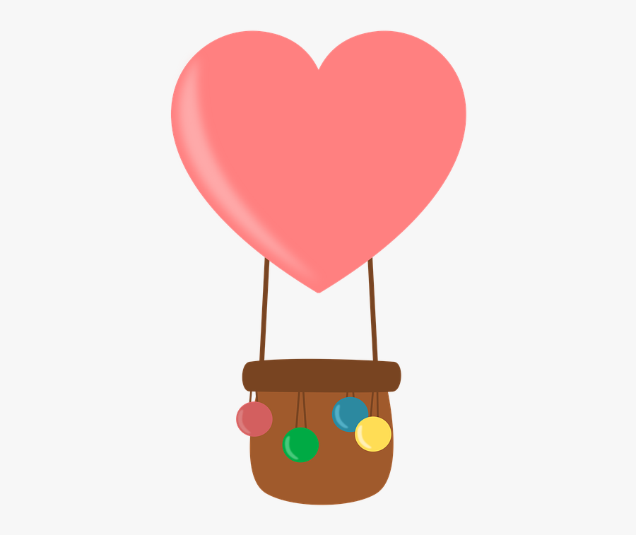 Hot Air Balloon, Balloon, Colors, Inflation, Design - Hot Air Balloon Clipart Transparent Background Heart, Transparent Clipart