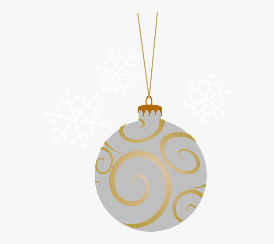 Free Christmas Silver And Gold Ornament Clipart - Christmas Baubles No Background, Transparent Clipart