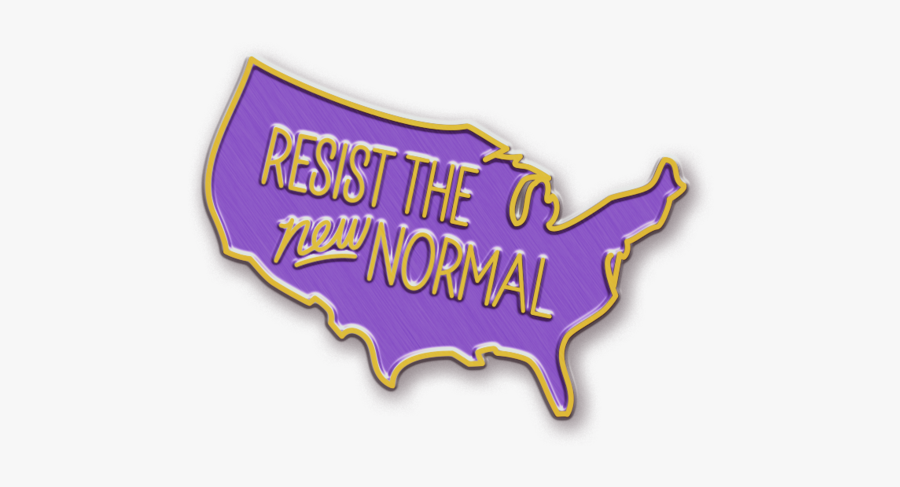 Resist The New Normal Pin Label Free Transparent Clipart