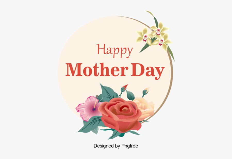Clip Art Flower Vector Happy Mother - Png Vector Happy Mothers Day, Transparent Clipart