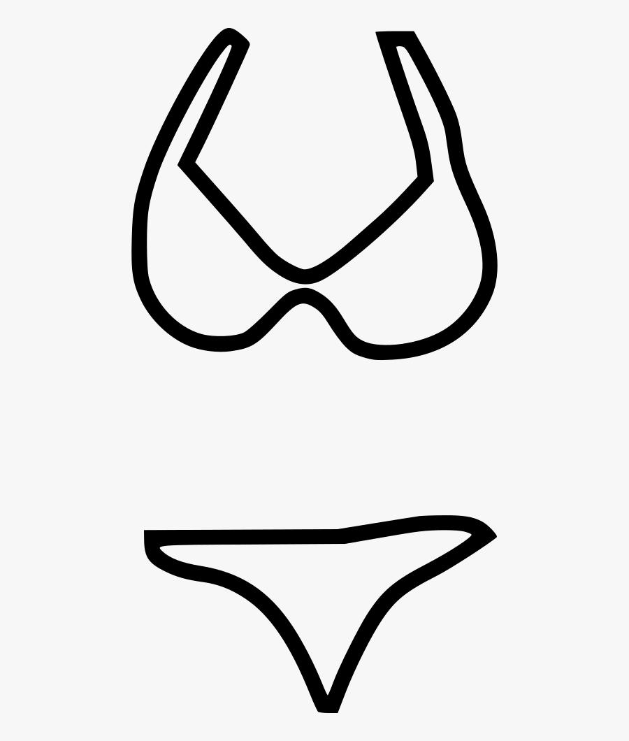 Bikini Wear Lingerie Swim Suit - Swimming Suit White Icon, Transparent Clipart