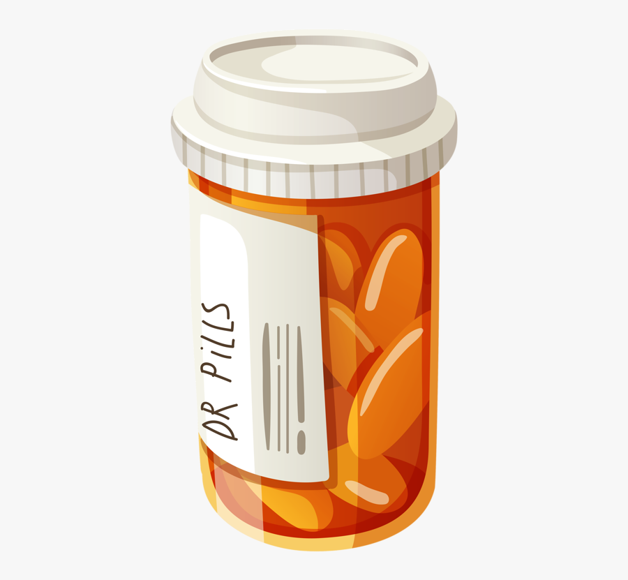Cartoon Pill Bottle Png Free Transparent Clipart Clipartkey