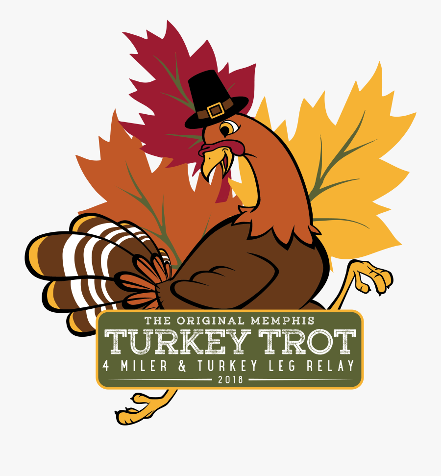 Memphis Turkey Trot 4 Miler And Turkey Leg Relay - Fall, Transparent Clipart