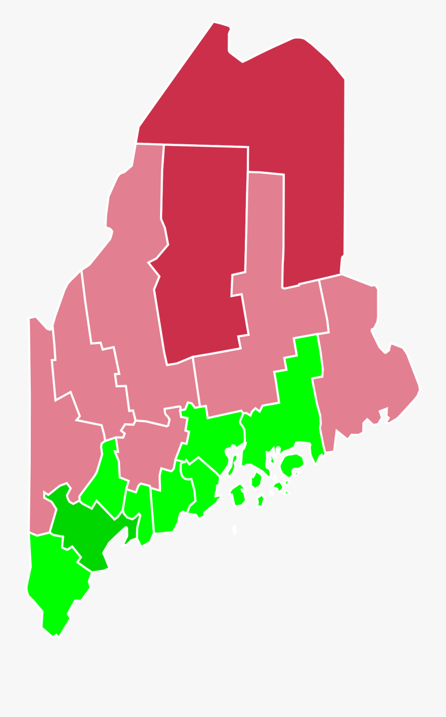 Maine 2016 Election Results, Transparent Clipart