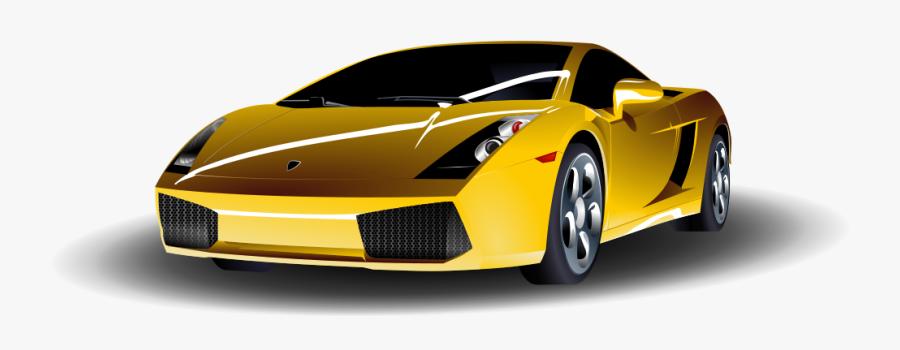 Sports Car - Yellow Sports Car Clipart, Transparent Clipart