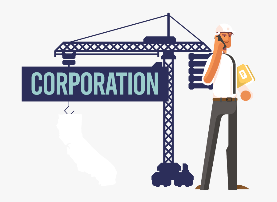 Image Of A Man Forming A Corporation In California - Corporation, Transparent Clipart