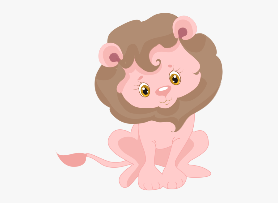 Sublimation Transfer Pink Jungle Animal Lion Design - Pink Baby Shower Animals, Transparent Clipart