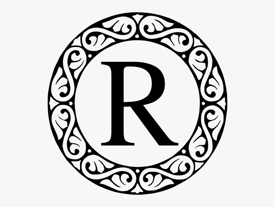 R Monogram Svg Clip Arts - Letter F Monogram Clipart, Transparent Clipart